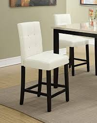 counter height chairs set of 2. Unique Counter Set Of 2 Bar Stools Cream Faux Leather Parson Counter Height Chairs With  High Back And With Of S