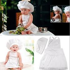 cute baby cook costume photo photography prop newborn infant hata chef clothes diy funning booth props