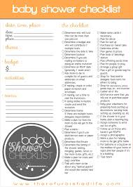 Sample Baby Shower Checklist 24 Planning A Baby Shower Checklist Procedure Template Sample 5