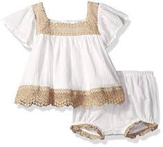 Jessica Simpson Baby Clothes Classy Amazon Jessica Simpson Baby Girls' Flutter Sleeve Dress