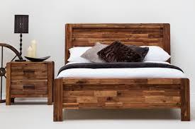 Rustic King Size Wood Bed Frame — Delaware Destroyers Home : Make ...