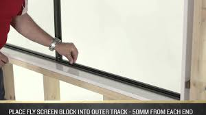 how to install a fly screen on an a l sliding window