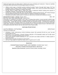 Sample Traders Resume Treasury Analyst Resume