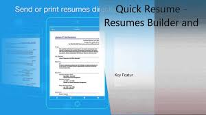 Quick Resume Resumes Builder And Designer Iphone Ipad Review