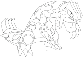 Coloring Pages Pokemon Groudon Primal Colouring Sheets Wiegraefeco