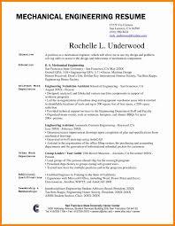 Resume Sample Word Format Rare Mechanical Engineering Resume Format