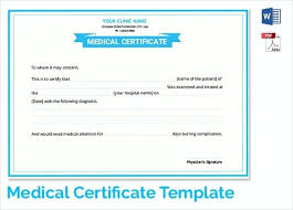 Medical Certificate For Sick Leave Inspiration Sample Medical Certificate Format For Sick Leave Free Template Word