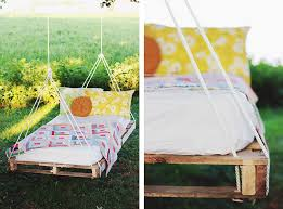 simple swing bed for the garden