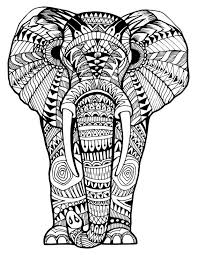 printable coloring pages for children that you can print out and color elephant zentangle