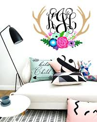 monogram wall decals for nursery removable vinyl wall decals home decor modern kids stickers for custom