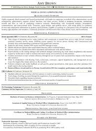 Sample Resume For Office Manager Assistant Admin Officer
