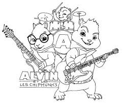 Small Picture Cartoon Character Coloring Pages Alvin And The Chipmunks Coloring