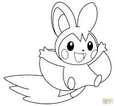 Coloring Page Pokemon Coloring Page Astonishing Emolga Pages