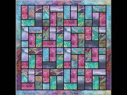 Batik Stained Glass Quilt Pattern Video - YouTube &  Adamdwight.com