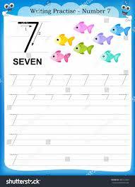 Kindergarten Writing Practice Number Seven Printable Worksheet ...