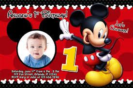 baby mickey mouse invitations birthday mickey mouse 1st birthday invitations mickey mouse 1st birthday