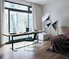 white bedroom office area interior decor
