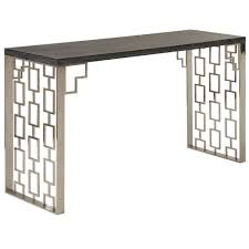 armen living skyline charcoal console table to enlarge