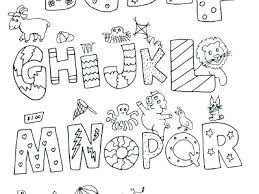 Alphabet Coloring Pages Alphabet Coloring Pages Free Letter