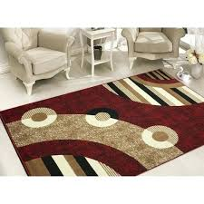 modern red area rugs sweet home modern circles red area rug