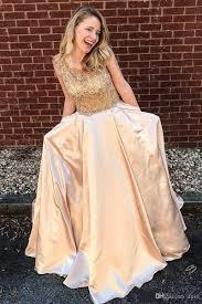 Gorgeous <b>Champagne</b> 2019 <b>Prom</b> Dresses Scoop Cap Sleeve ...