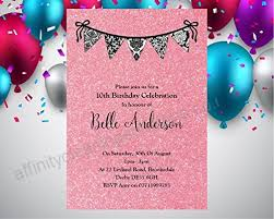 Personalised Birthday Invitations For Kids Childrens Kids Personalised Birthday Invitation Invite X 10 Bunting