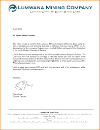 7 To Whom It May Concern Letter Format Memo Templates With