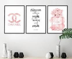 chanel wall art coco chanel print