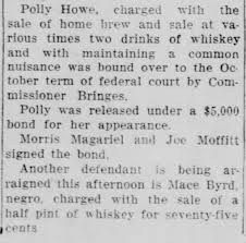 Polly Bryant charged with selling home brew - Newspapers.com