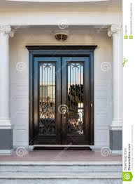 white front door with glass. Closed Glossy Black And Glass Front Doors Of An Upscale Home Stock Image - Design, Light: 37581763 White Door With I