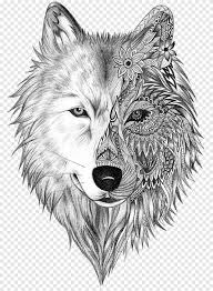 Easy drawing step by step guidelines for wolf drawing. Grey Wolf Bust With Floral Print Sketch Illustration Tattoo Artist Gray Wolf Sleeve Tattoo Tattoo Ink Wolf Heart Ink Mammal Png Pngegg