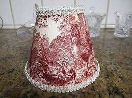 waverly red ivorypetite ferme rooster french country toile lamp shade chandelier