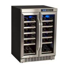 24 Inch Wide 36 Bottle Built-In Wine Cooler with Dual Cooling Zones