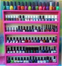 nail polish wall display diy