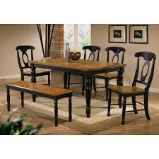 winners only quails run 6 piece dining table set with napoleon chairs hayneedle