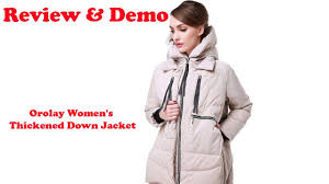 Orolay Women S Thickened Down Jacket Size Chart Review 2019 Orolay Womens Thickened Down Jacket