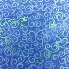 108  Ombre Scroll Wide Quilt Backing - Royal & 108