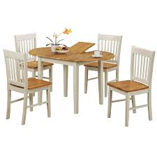 extending dining table and four chairs set extendable sets shabby chic white square oak glass compact expandable rectangle large round room dinette modern