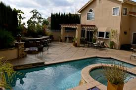 Complete Backyard Remodel with Modern Style Swimming Pool - Glendale CA  tropical-pool