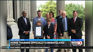 Trainers honored by SC lawmakers after horse wins Kentucky Derby