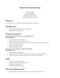 Bartender Resume Example Awesome Bartenders Resume Example Bartenders Resume Skills Awesome Bartender