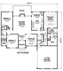 floor plan first story of ranch plan 104 1014