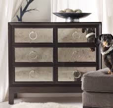Mirrored Living Room Furniture Hooker Furniture Living Room Melange Six Drawer Mirrored Front