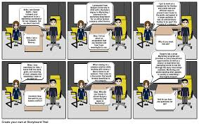 job interview story board storyboard by d08a89e441343