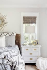 Floor Tables Rose Gold Bedroom Furniture Wood Floor White Clothed Pillow