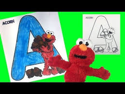 All the coloring pages on the site Learn Abc Alphabet Sesame Street Elmo Letter A Coloring Littlewishes Youtube Learning Abc Abc Alphabet Sesame Street