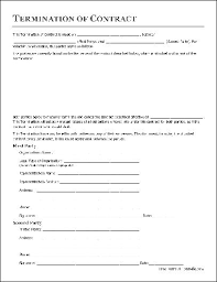free termination of contract