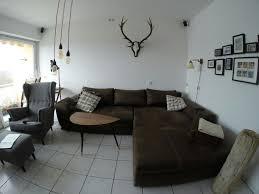 Neuwertige Wohnlandschaft Couch Antik Braun