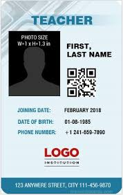Id Template School Id Card School Card