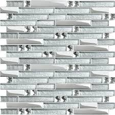 glass wall tile silver metal plated glass tiles for kitchen mosaic tile interlocking clear crystal wall